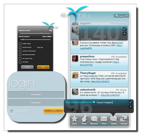 Blu Twitter Interface