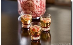 Cocktail Sanglant- Bloody-Brain-Shooter - vodka - citron vert - bailey's
