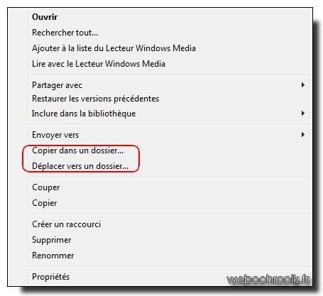 Copier-deplacer windows