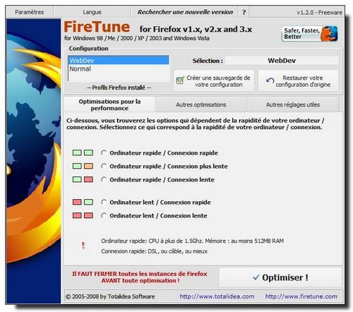 Firetune Ecran1