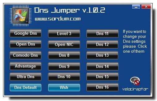 DNS_Jumper-changer rapidement de serveur DNS