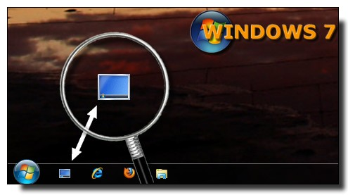 Windows 7 - icone Afficher Bureau