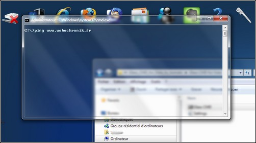 Applications transparentes gratuite pour Windows 7 et Windows vista - Invite de Commande - CMD