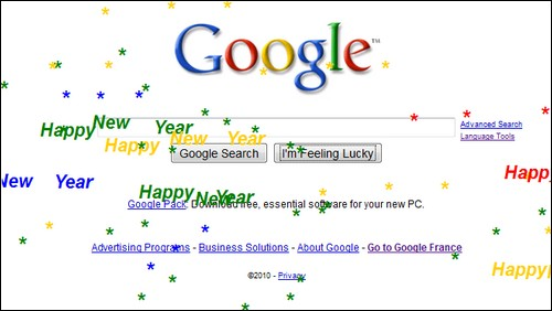 Google Easter Eggs Happy new year