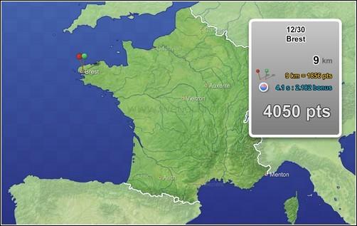 Jeux Flash pour apprendre la géographie - Carte de france
