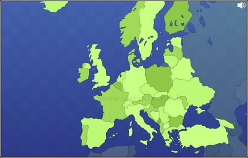 Jeux Flash Europe pour apprendre la géographie