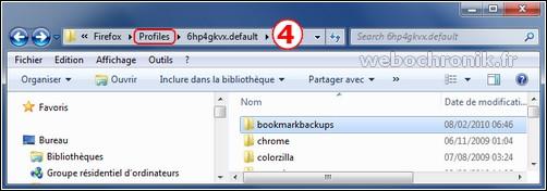 Firefox 3.6 sauvegarder votre profil avec la commande about support-dossier profil