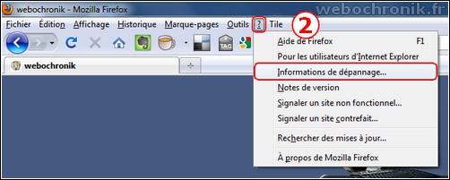 Firefox 3.6 sauvegarder votre profil avec la commande about:support-menu aide