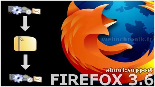 Firefox 3.6 sauvegarder votre profil avec la commande about:support