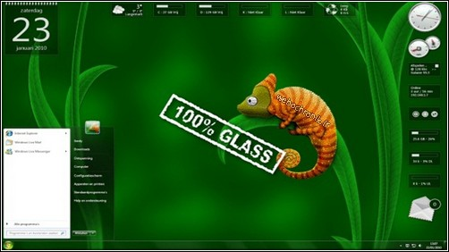 Pack 14 gadgets pour windows seven et windows vista - chameleon Glass