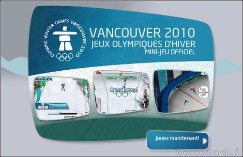 Vancouver 2010 - Mini Jeux Officiel gratuit en ligne