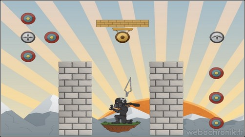 Jeu flash - shuriken showdown - incarnez un ninja - screenshot 2 - webochronik