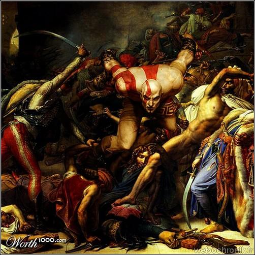 Chef d'oeuvre peinture classique - jeux video - God of War