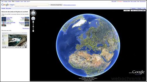 Google Earth View, Explorer la terre en 3d depuis votre navigateur internet directement sur Google Maps