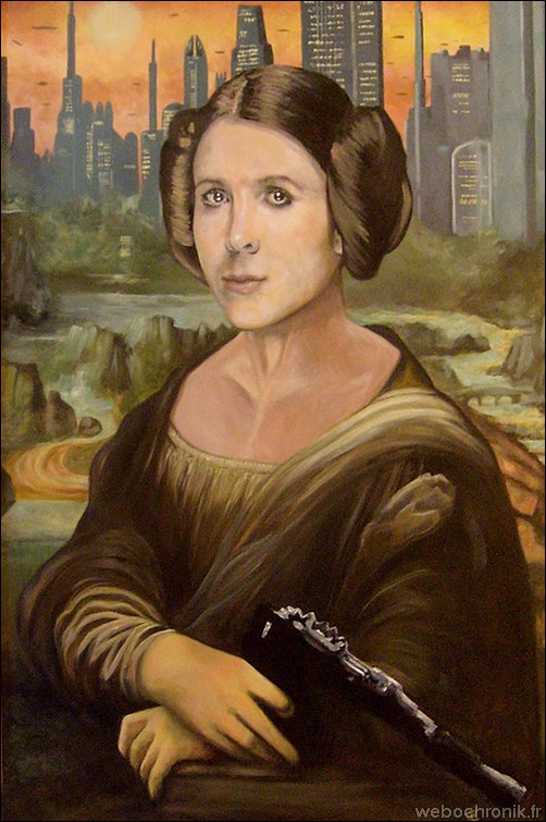 James Hance – peinture Star Wars - Mona Leia