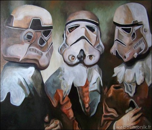 James Hance – peinture Star Wars - Three Troopers