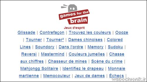 Games for the brain - jeux d'esprit