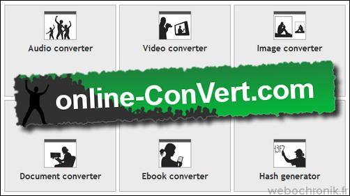 Online-Convert - service en ligne gratuit pour convertir tous types de fichiers