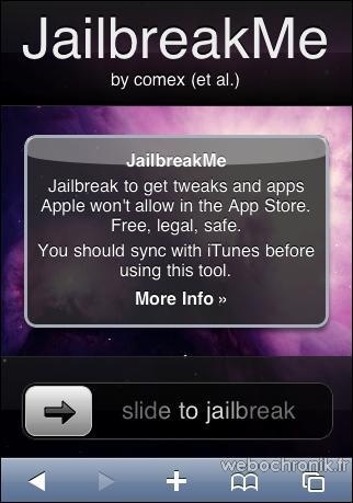 JailbreakMe - Jailbreaker votre iphone