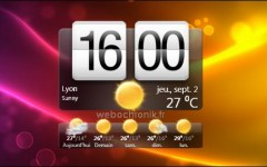 HTCHome - Horloge HTC SENSE pour Windows 7 et Vista