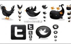 Telechargement Pack Icones gratuit Twitter noir