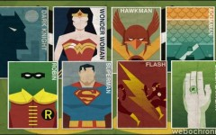 Affiches Super Heros Vintage - DC_COMICS