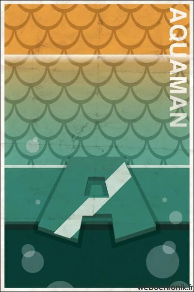 Affiche Super Heros Vintage - DC_COMICS - AquaMan