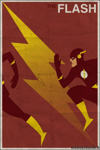 Affiche Super Heros Vintage - DC_COMICS - Flash