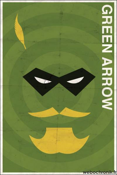 Affiche Super Heros Vintage - DC_COMICS - Green Arrow