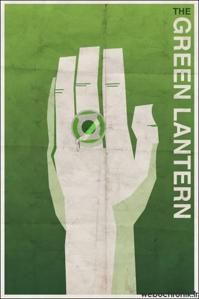 Affiche Super Heros Vintage - DC_COMICS - Green lantern