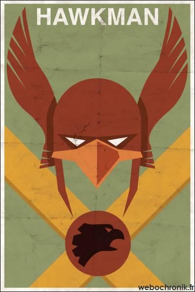 Affiche Super Heros Vintage - DC_COMICS - Hawkman