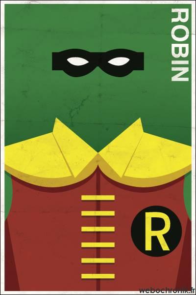 Affiche Super Heros Vintage - DC_COMICS - Robin