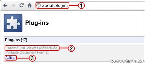 Astuce - Activez la visionneuse  de document PDF dans Google Chrome