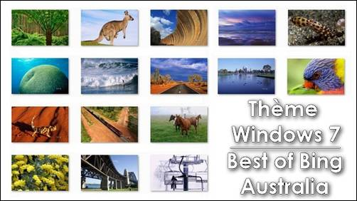 Theme Windows7 - Best of Bing Australia - themepack - Fond d'ecran