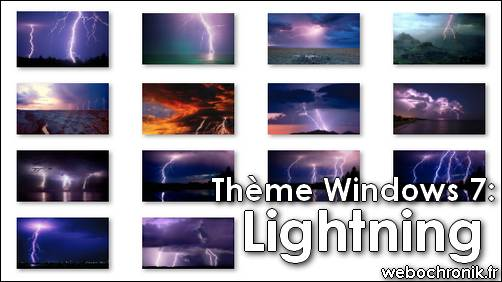 Theme Windows7 - Lightning - themepack - Fond d'ecran - microsoft